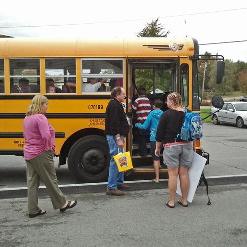 Bus driver appreciation in Surry