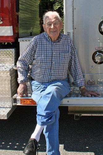 Frank Snow, the oldest firefighter in Brooksville