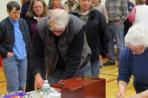 Voters at the Brooksville annual town meeting