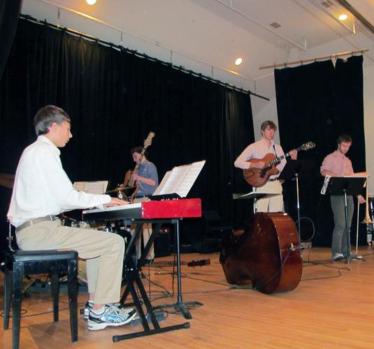 The George Stevens Academy jazz ensemble