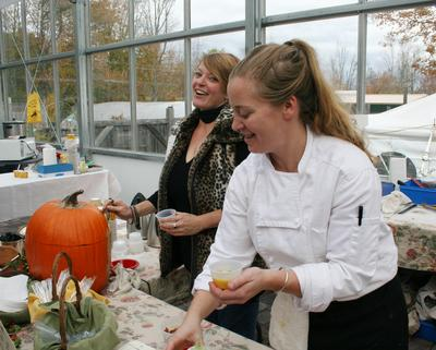 Sarah Pebworth and Chef Devin Finigan