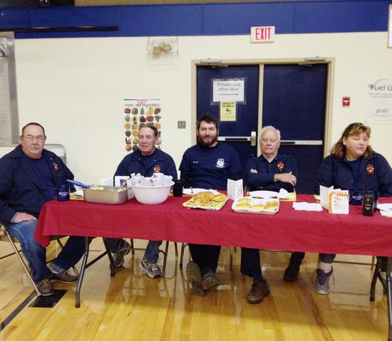 Members of the Surry Volunteer Fire Department