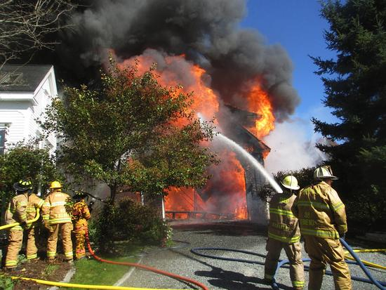 More than 50 firefighters helped fight a fire