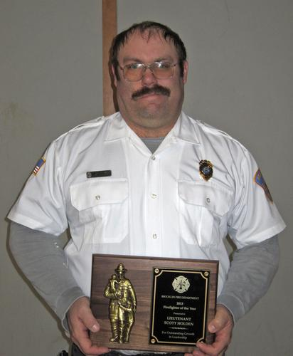 Lt. Scott Holden Brooklin Firefighter of the Year