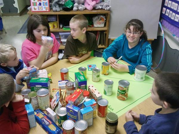Kindergarten and fifth-grade students