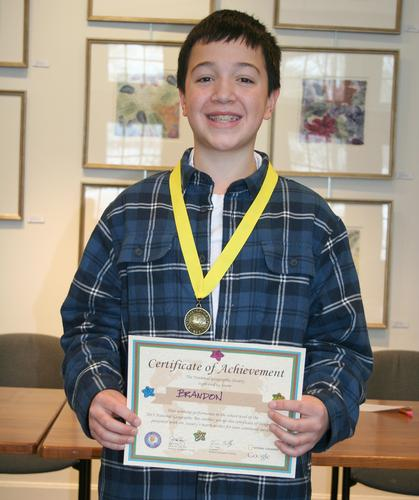 Brandon Aponte won the National Geographic Society bee