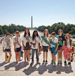 Brooklin Girl Scouts at the National Mall