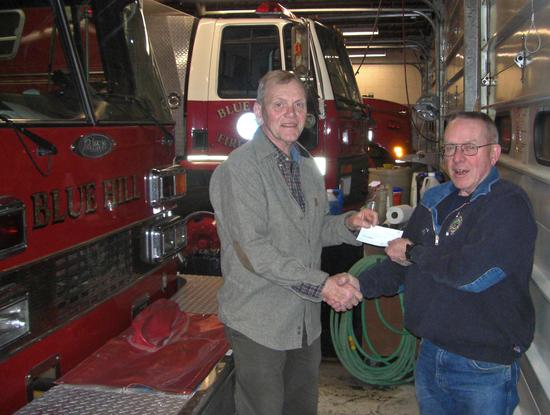Donation presented to Blue Hill Fire Department
