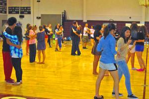Students at George Stevens Academy learn the tango
