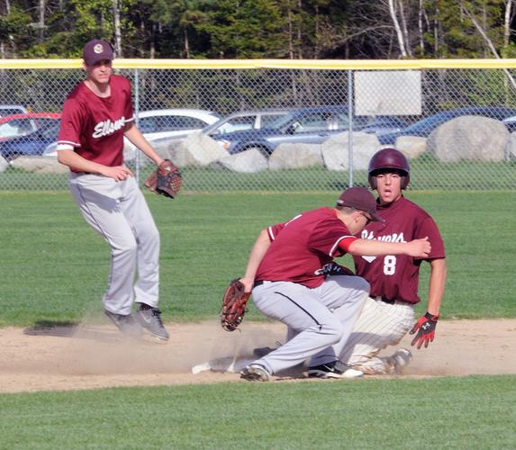 Anthony Bianco tries for a second base