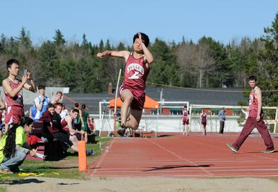 Corey An in the long jump
