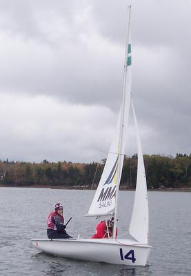 Skipper Cecily Page and crew Clover Slagle
