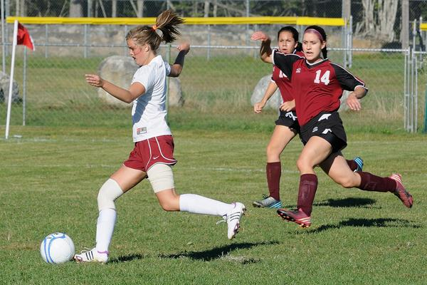 Alissa Muise scores for the Lady Eagles