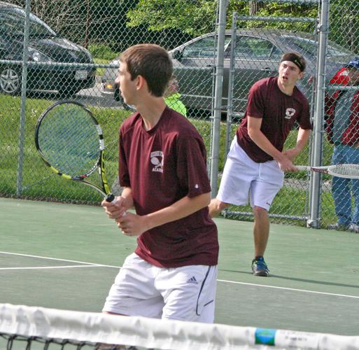 Doubles team Luke Theoharidis (left) and Ed Lameyer