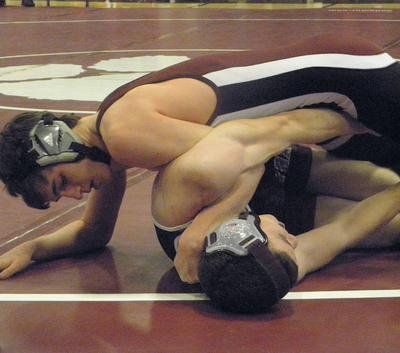 Third-year GSA wrestler Jordan Lord