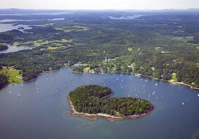 Harbor Island, a 22-acre island in Buck's Harbor