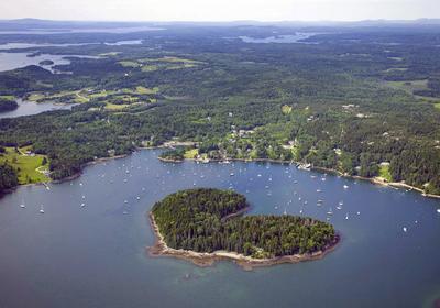 Harbor Island, a 22-acre island in Buck's Harbor