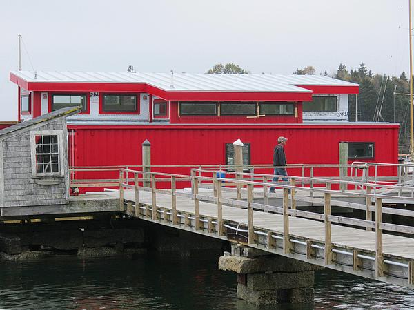 One-of-a-kind houseboat at Brooklin Boat Yard