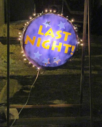 The Last Night sign