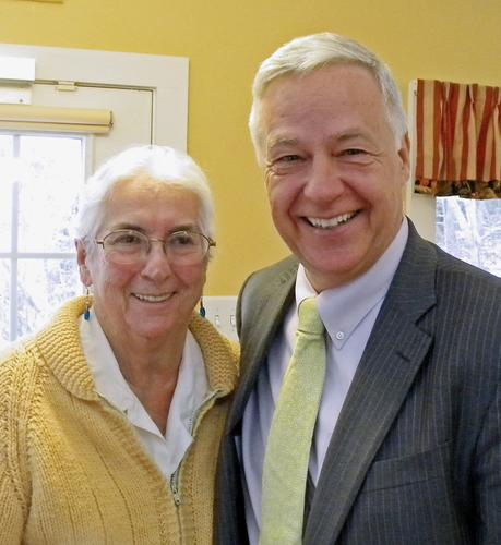 Deborah Wing with Mike Michaud
