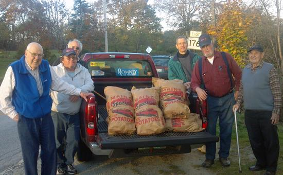 Brooksville Odd Fellows donated potatoes