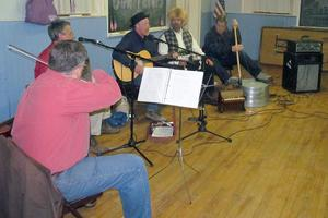 The Loose Cannon Jug Band at the Legion hall on New Year's Eve