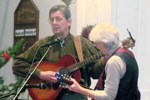 Rob and Becky McCall perform at Last Night! in Blue Hill