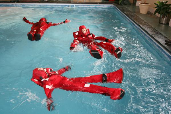 BHCS students try survival suits