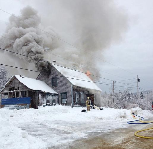 Range Road fire on December 30 in Blue Hill