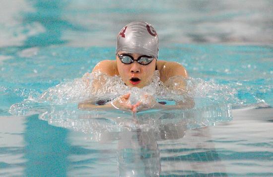 Eunice Yang of the Eagles swim team