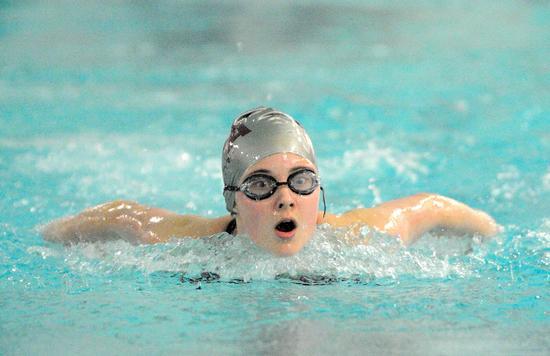 Emma Richardson of the Eagles swim team