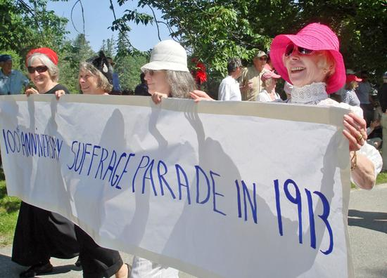 Modern suffragettes march on July 4th 2013