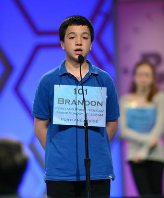 Brandon Aponte at the Scripps National Spelling Bee