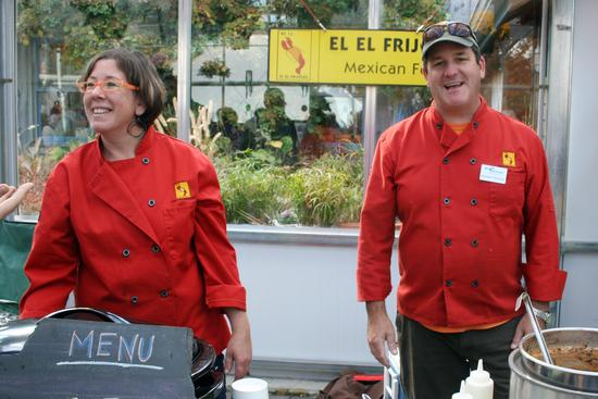 Michele Levesque and Michael Rossney of El El Frijoles at the Taste of the Peninsula in Blue Hill