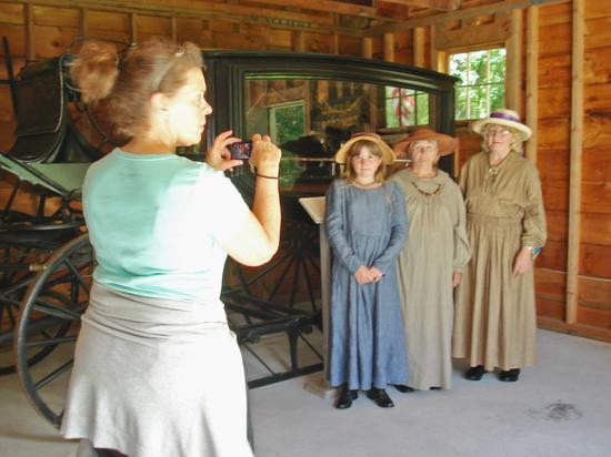 Brooklin residents in period costumes at Sedgwick-Brooklin Historical Society