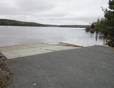 The Walker Pond boat launch