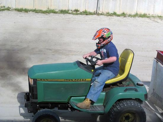 Blake Dow in the Brooksville Fire Dept. tractor pull