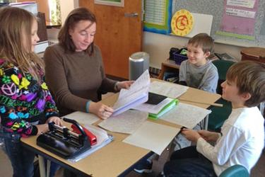 Reading together at Blue Hill Consolidated School