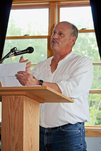 Daniel Hays speaks at the Blue Hill Harbor School graduation