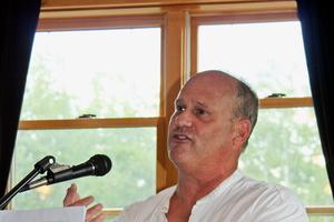Daniel Hays speaks at the Blue Hill Harbor School graduation