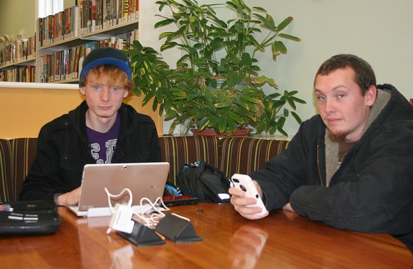 Wireless users at Blue Hill Public Library in Maine