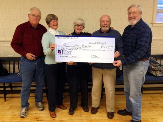 Blue Hill Bridge Club supports the new free clinic in Blue Hill