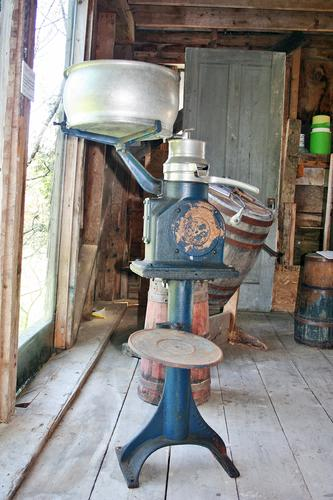 A cream separator at the Brooksville Historical Society