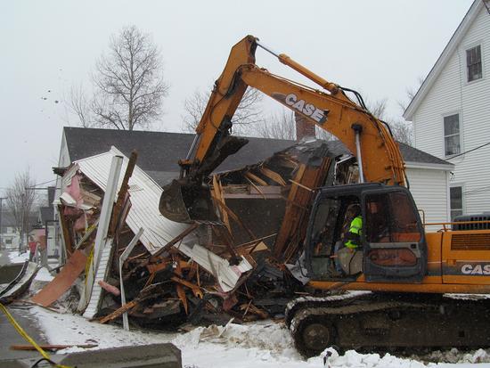 Candage building demolition 3