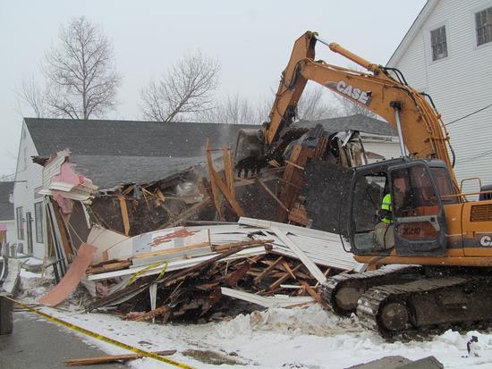 Candage building demolition 4