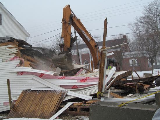 Candage building demolition 5