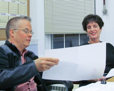 Blue Hill Planning Board members Charles and Walsh
