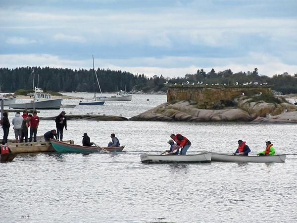 Eastern Maine Skippers Program rowers in Stonington