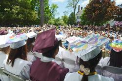 View from behind the graduates