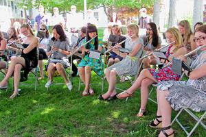 The GSA band plays at 2014 commencement